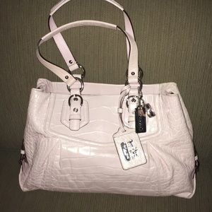 Coach powder pink leather bag